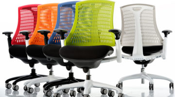 Mesh boardroom chairs