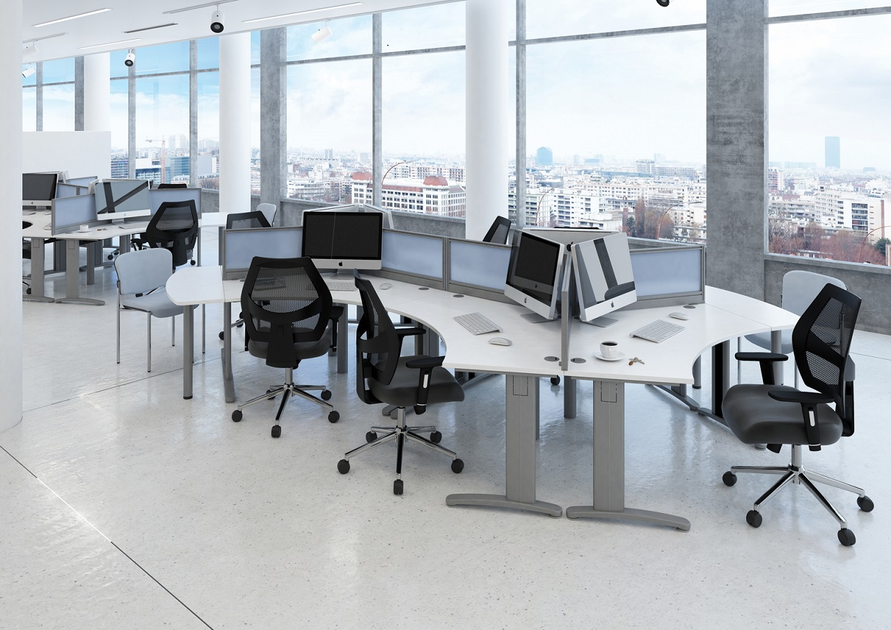 120 degree desks dms system desking waterfront warehouse essex - Wholesale contemporary furniture warehouse ...